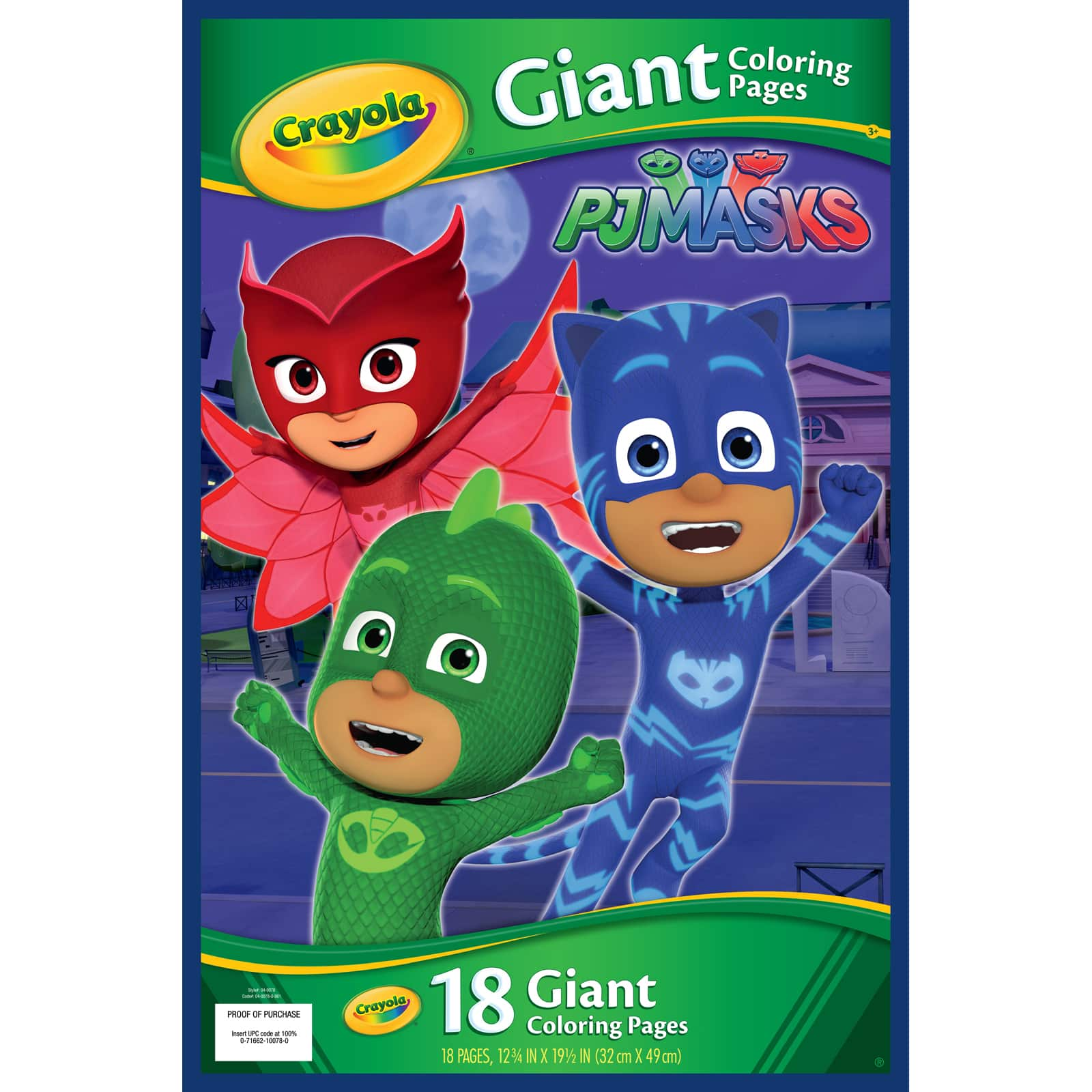 Shop For The Crayola® Giant Coloring Pages, PJ Masks At Michaels