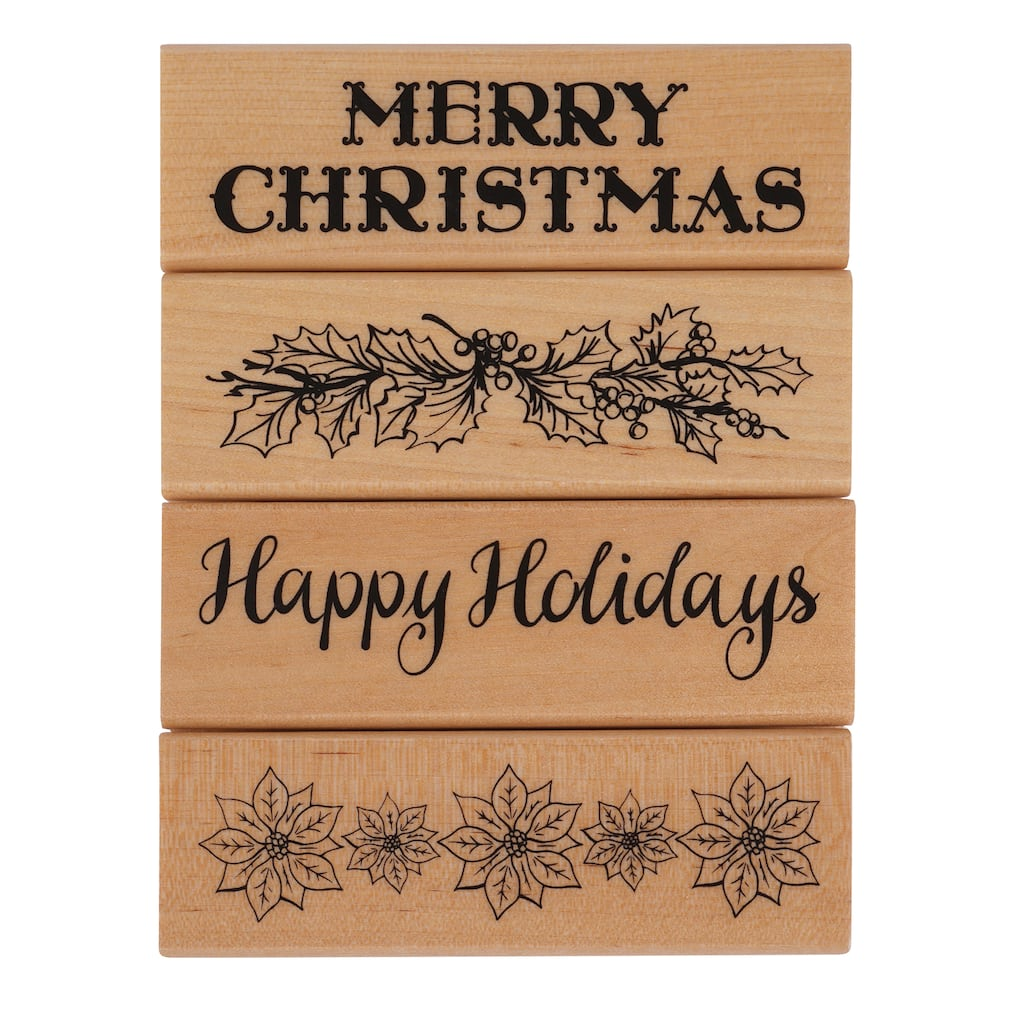 Shop for the Christmas Sayings Wooden Stamps By Recollections™, 4 ...