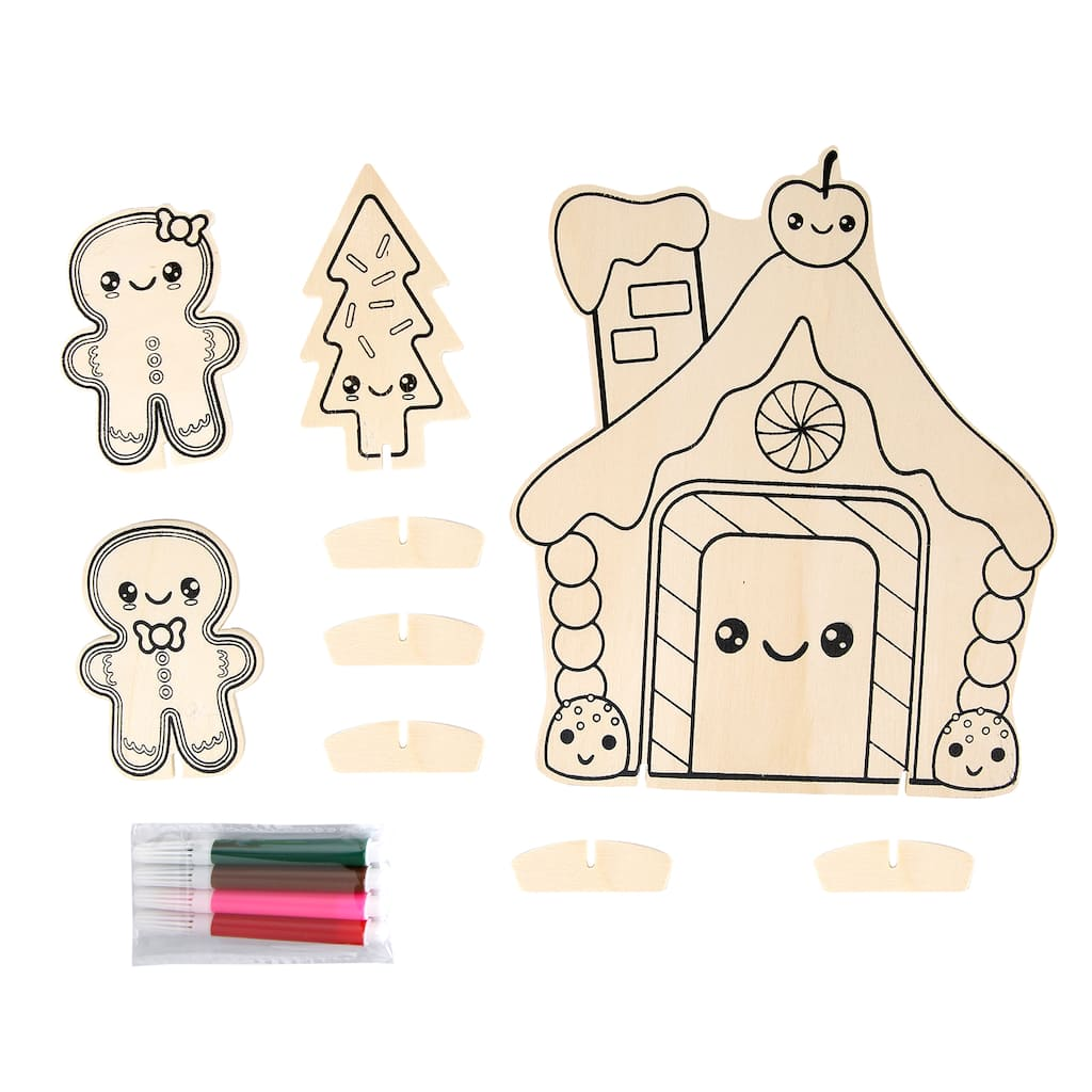 Find the Kawaii Christmas Wood House Kit By Creatology™ at Michaels