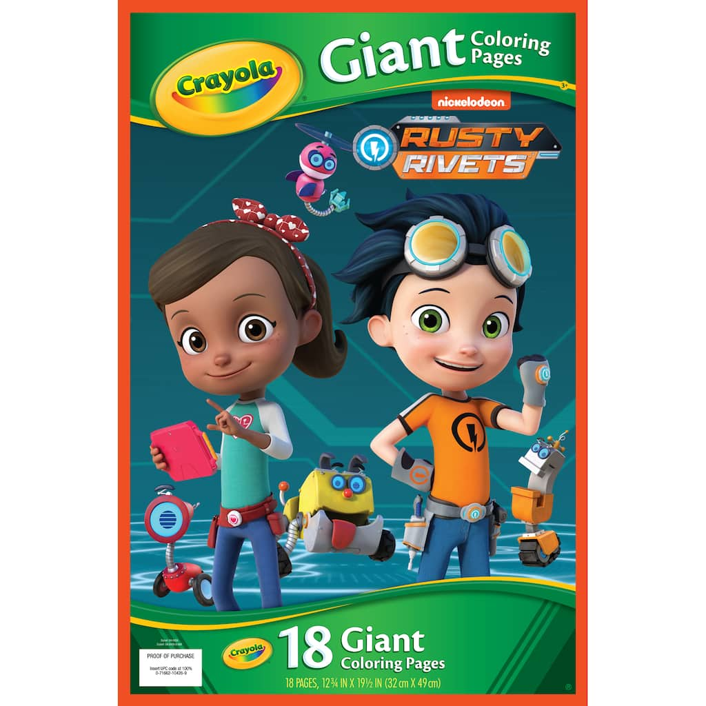 Buy the Crayola® Giant Coloring Pages, Rusty Rivets at Michaels