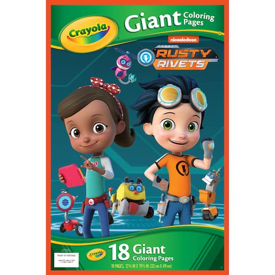 Buy The Crayola Giant Coloring Pages Rusty Rivets At Michaels