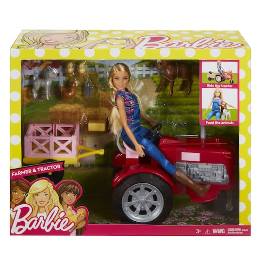 2d42f94ffda69 Barbie® Career Dolls, Farmer and Tractor