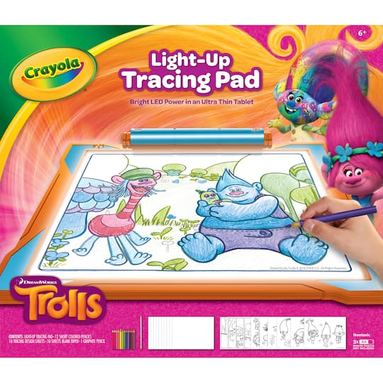 7bdcd6ec1 Find the Crayola® Light-Up Tracing Pad, Trolls at Michaels