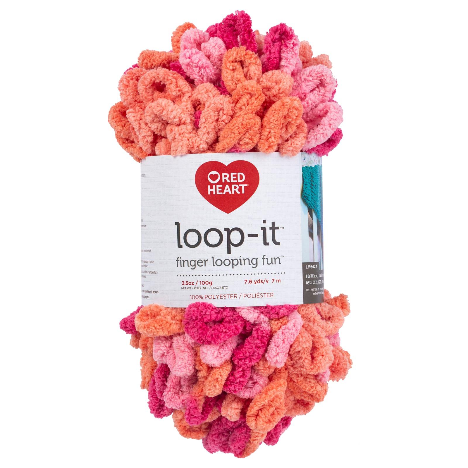 Red Heart Yarn Loop-it-school Of Rocks