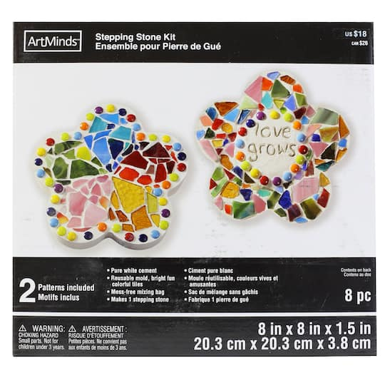 Buy The Flower Stepping Stone Kit By Artminds At Michaels