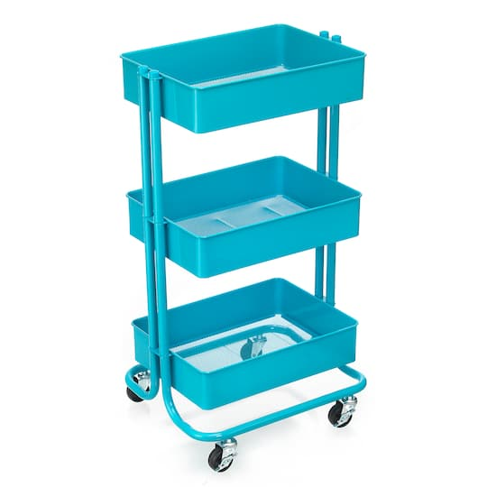 Turquoise Lexington 3-Tier Rolling Cart By Recollections™