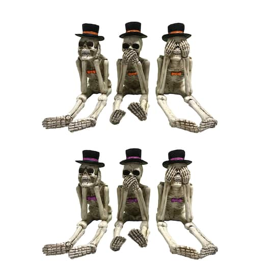 Assorted Posing Skeleton with Hat by Ashland®