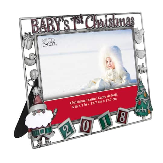 Shop for the Gray Metallic Baby\'s First Christmas 2018 5\