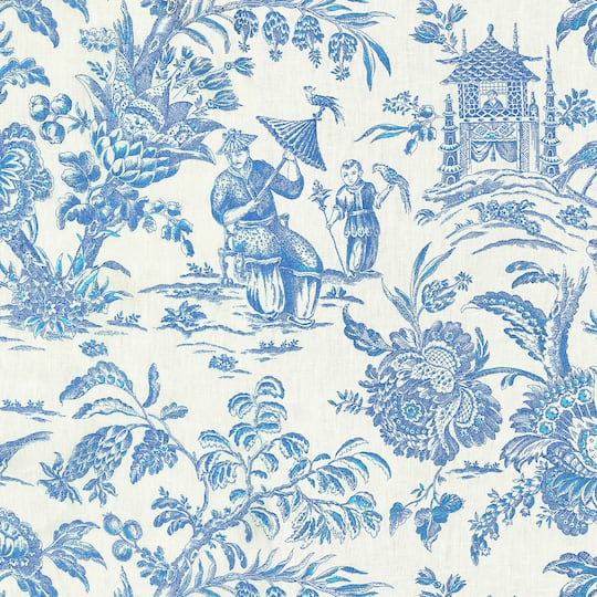 Find The Williamsburg Sapphire Asian Arcadia Home Decor Fabric At