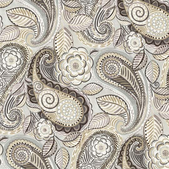 Waverly Mayan Market Mineral Paisley Home Décor Fabric