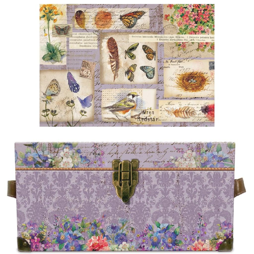 Shop For The Medium Botanical Scrapbook Flat Trunk By Ashland At