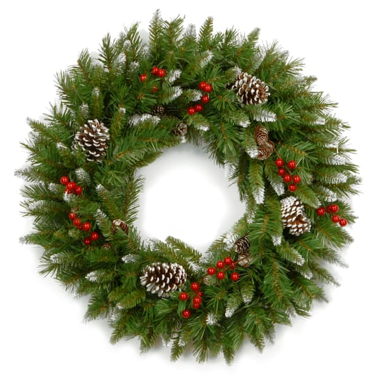 "Christmas Berry Tree Hawaii: Buy The 24"" Frosted Berry Wreath At Michaels"
