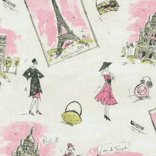 Waverly Tres Chic Black Pink Home Decor Fabric