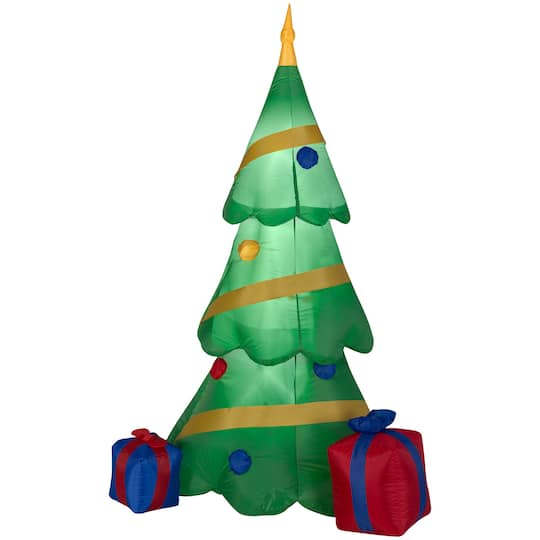 6.5Ft Airblown� Inflatable Christmas Tree With Gift Box By Gemmy Industries | Michaels�
