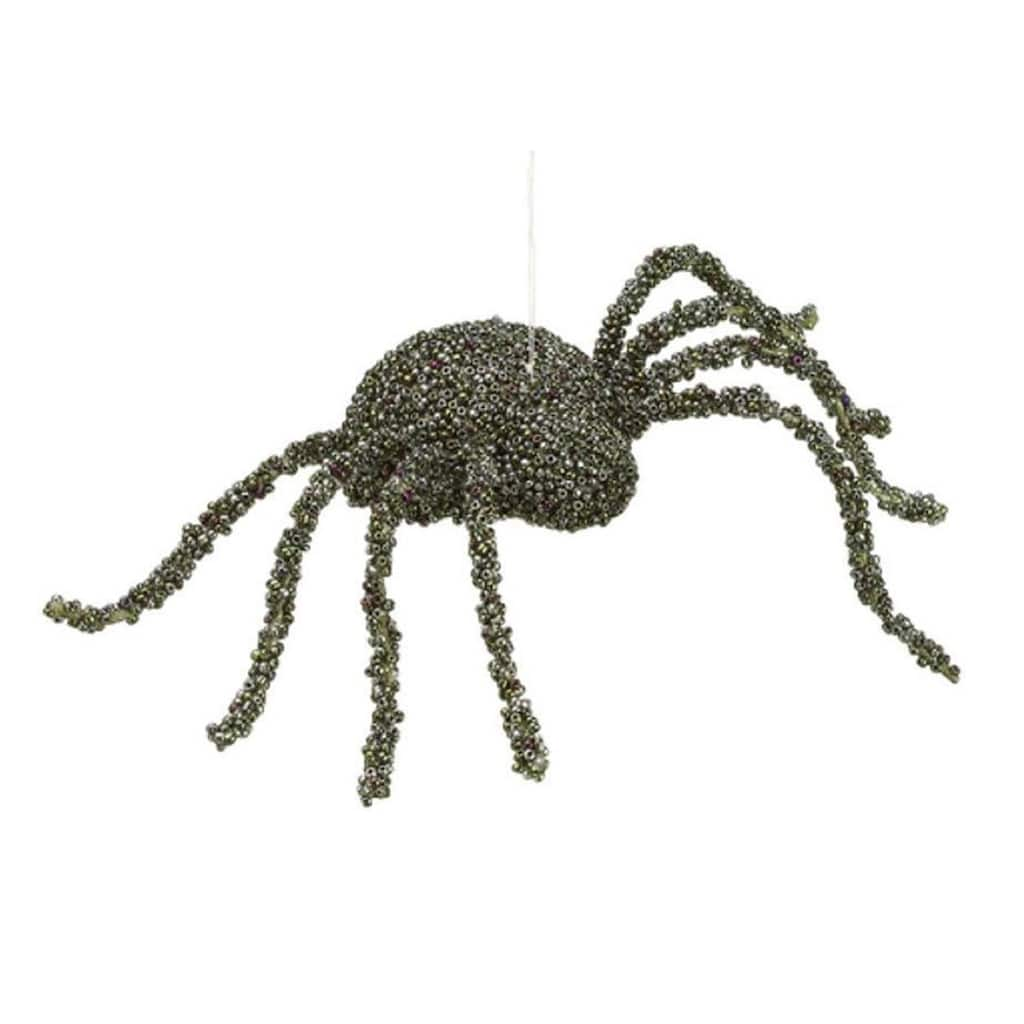 Black Beaded Spider OrnamentFall DecorCreepy Spider Decoration