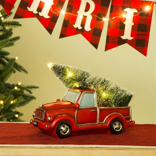 red truck christmas table dcor img img img img img img img