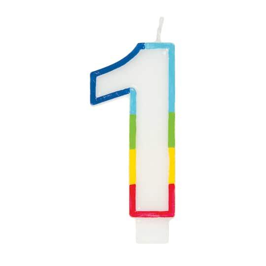 Tremendous Rainbow 1 Cake Candle Rainbow Birthday Party Supplies Funny Birthday Cards Online Amentibdeldamsfinfo