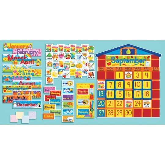 All-In-One Schoolhouse Calendar Bulletin Board Set