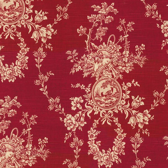 Home Decor Fabrics Online: Buy The Waverly Country House Toile Red Home Décor Fabric