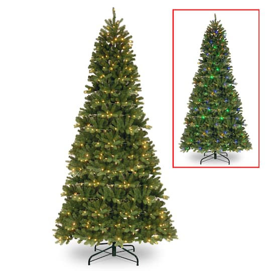 Prelit Feel Real® PowerConnect™ Newberry™ Spruce with Artificial Christmas  Tree, Dual Color® LED Lights - Shop The 9ft. Pre-Lit Feel Real® PowerConnect™ Newberry™ Spruce With