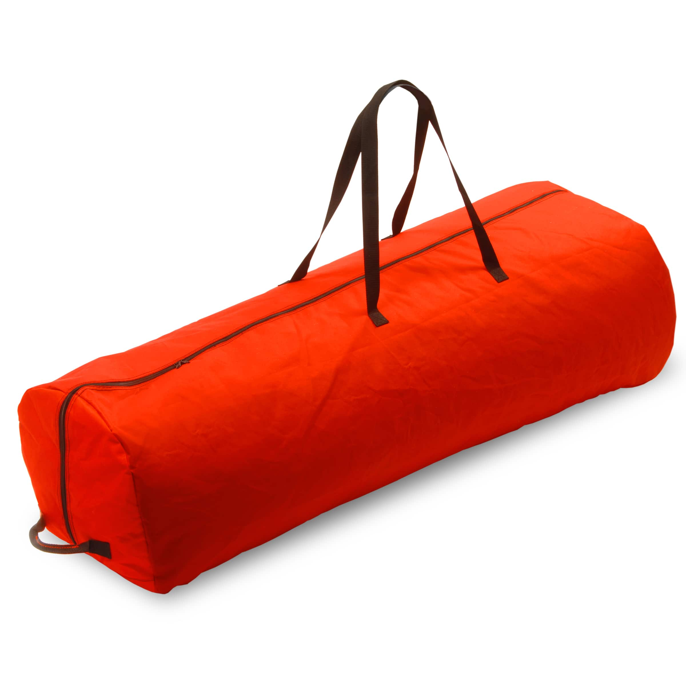 Red Artificial Tree Storage Bag With Rolling Wheels