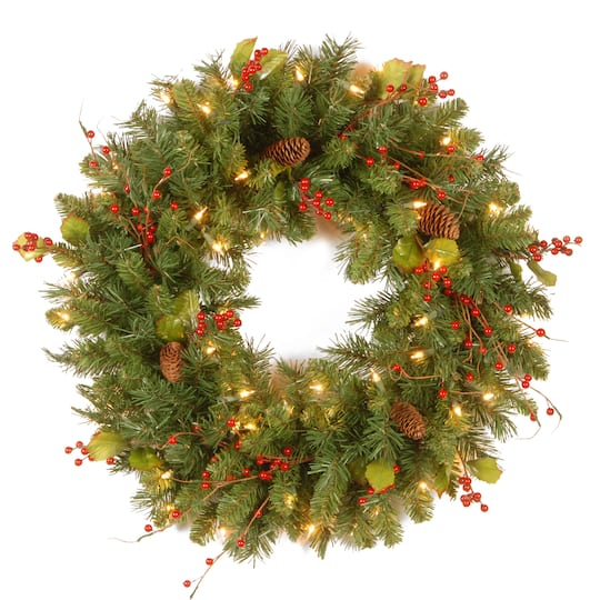 "Christmas Berry Tree Hawaii: Buy The 24"" Classical Collection Wreath With Red Berries"