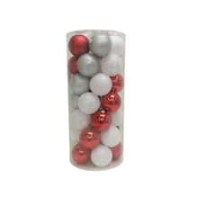 35ct red white plastic shatterproof ball ornaments by ashland