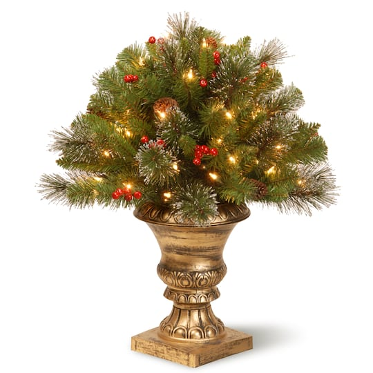 more photos f12c9 ecfd4 2ft. Pre-Lit Crestwood® Spruce Porch Bush Artificial Christmas Tree, Clear  Lights