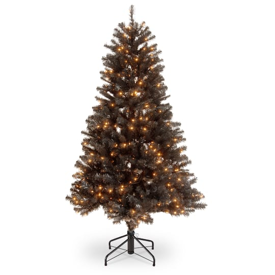 Christmas Tree Stand That Turns: 4.5ft. Pre-Lit North Valley® Black Spruce Artificial