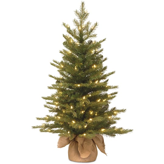 3ft. Feel Real® Nordic Spruce Small Artificial Christmas Tree In Burlap,  Clear Lights - Find The 3ft. Feel Real® Nordic Spruce Small Artificial Christmas