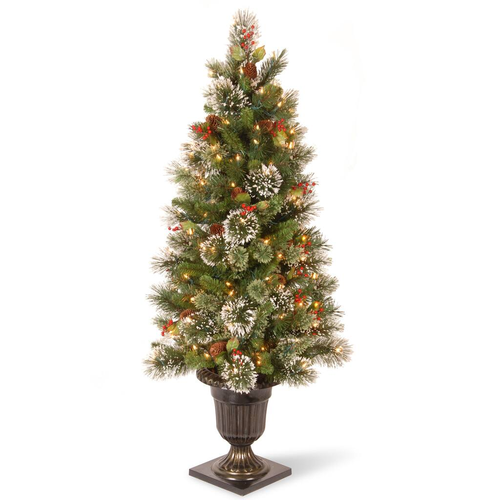 Christmas Tree Stand That Turns: Get The 4ft. Pre-Lit Wintry Pine® Artificial Christmas