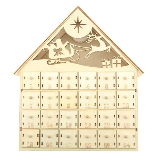buy the wood led advent calendar by artist s loft at michaels