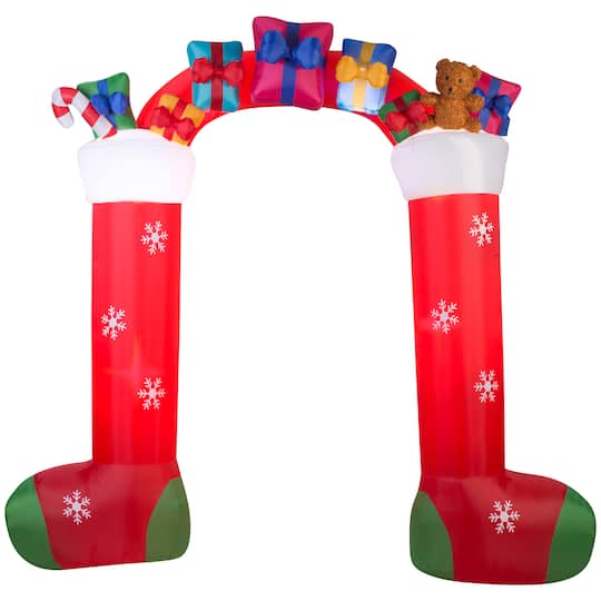 5Ft Airblown� Inflatable Christmas Stocking And Gift Archway By Gemmy Industries | Michaels�