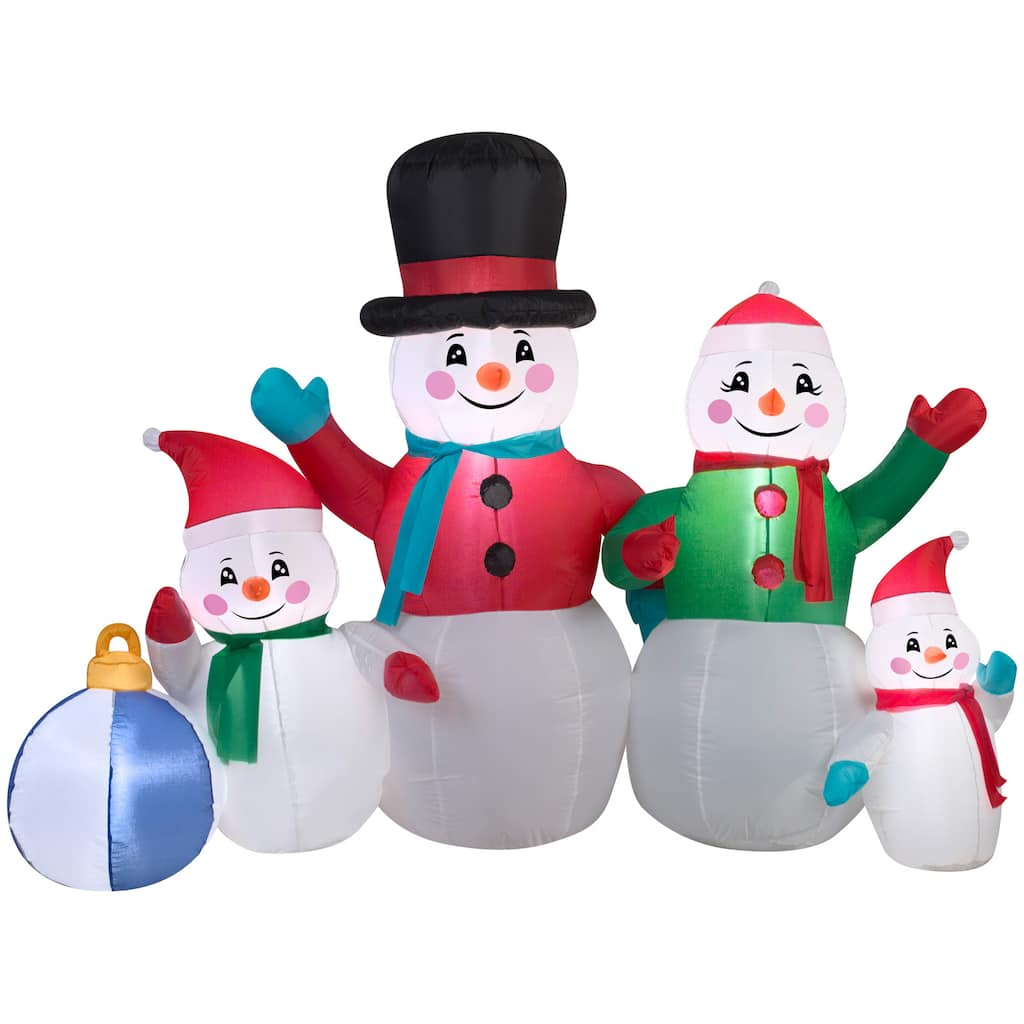 Find the 5ft. Airblown® Inflatable Christmas Snowman Family Scene at ...