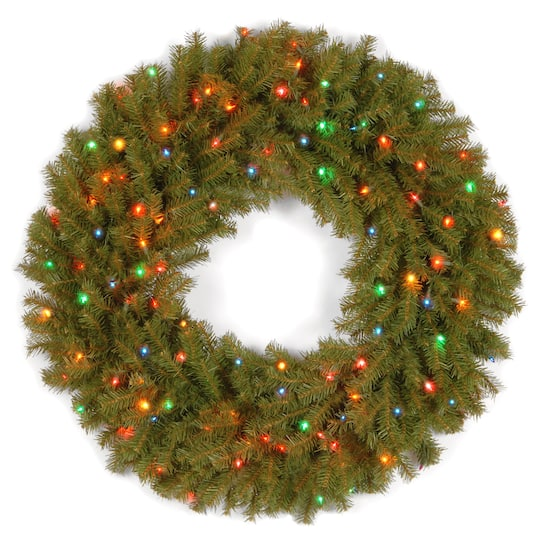 """Buy The 36"""" Norwood Fir Wreath With 100ct. Multi Lights At"""