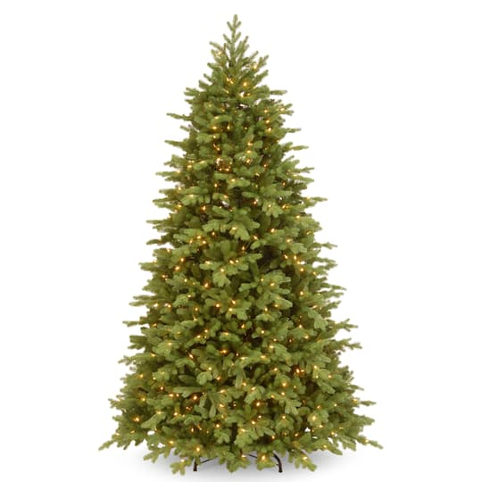 65 ft pre lit feel real princeton fraser fir hinged artificial christmas tree dual color led lights