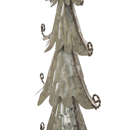 "Metal Tabletop Christmas Tree: Buy The Glitzhome® 20"" Iron Galvanized Christmas Tree"
