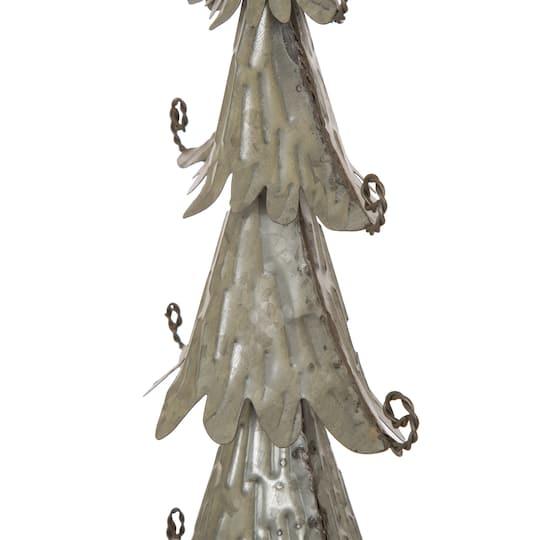 "Metal Tabletop Christmas Tree: Buy The Glitzhome® 20"" Iron Galvanized Christmas Tree"