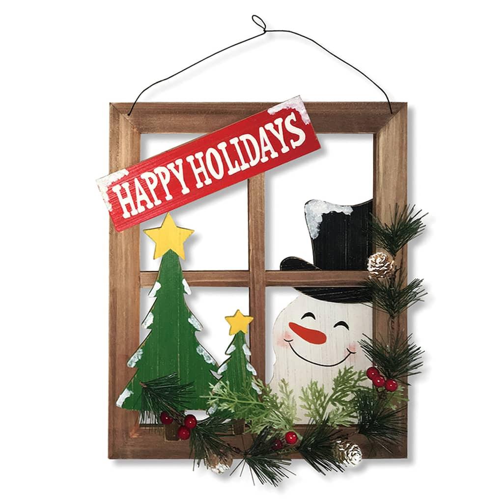 Mosaic Snowman Hanging Photo Frame Christmas Decoration Photo Frame Festive Snowman Photo Frame