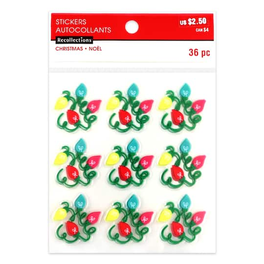 Christmas Lights Clear Stickers By Recollections™ - Shop For The Christmas Lights Clear Stickers By Recollections™ At