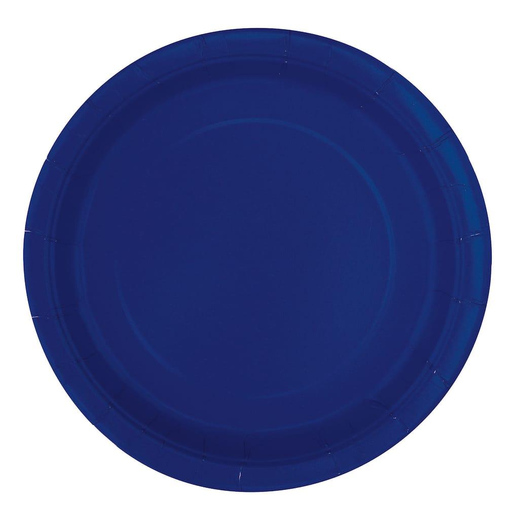 navy blue paper plates navy blue party supplies. Black Bedroom Furniture Sets. Home Design Ideas