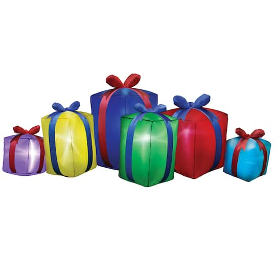 8Ft Airblown� Inflatable Christmas Row Of Presents By Gemmy Industries | Michaels�