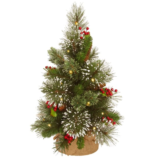 "Christmas Berry Tree Hawaii: Find The 18"" Wintry Pine Small Artificial Christmas Tree"