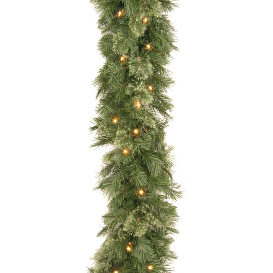 9 X 10 Pre Lit Wispy Willow Artificial Christmas Garland With 50 Clear Lights