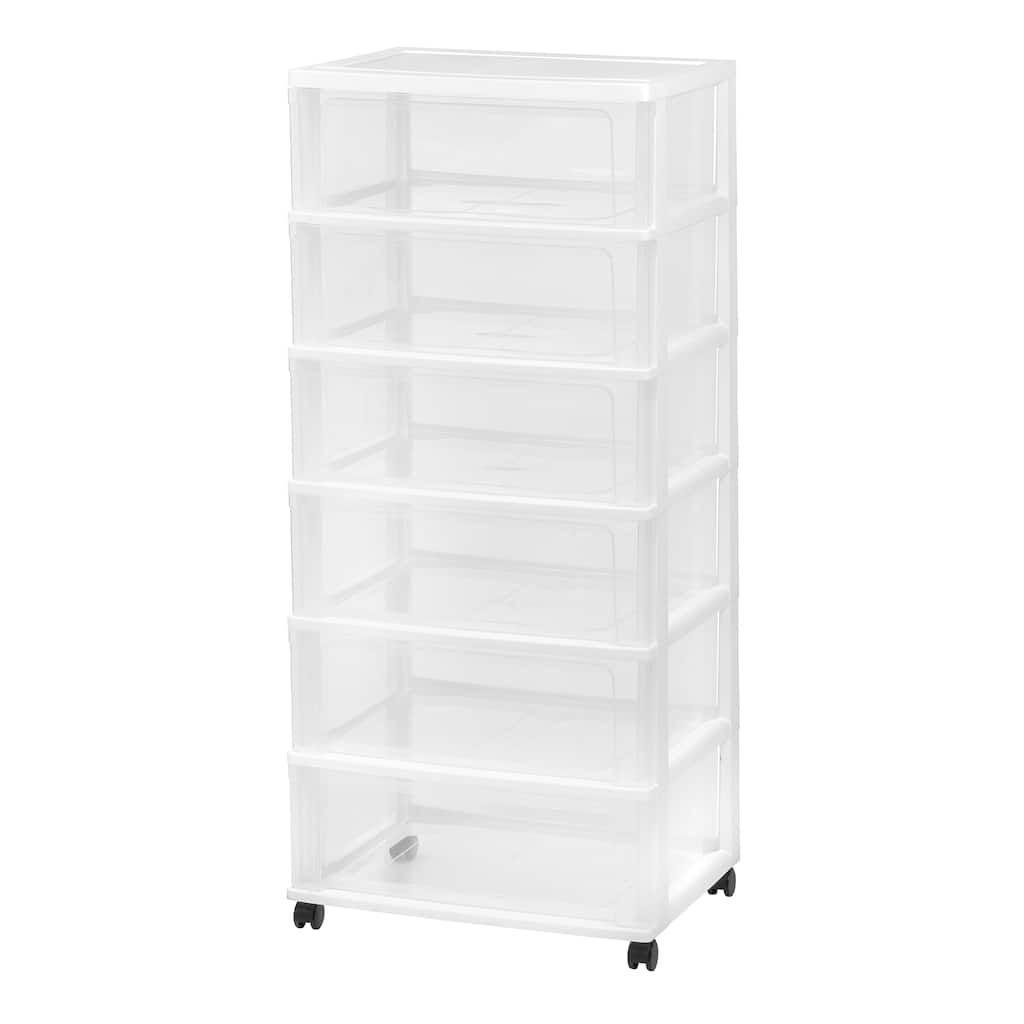 Buy the Iris® White 6-Drawer Rolling Storage Cart at Michaels