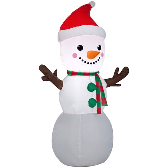 4Ft Airblown� Inflatable Christmas Snowman By Gemmy Industries | Michaels�