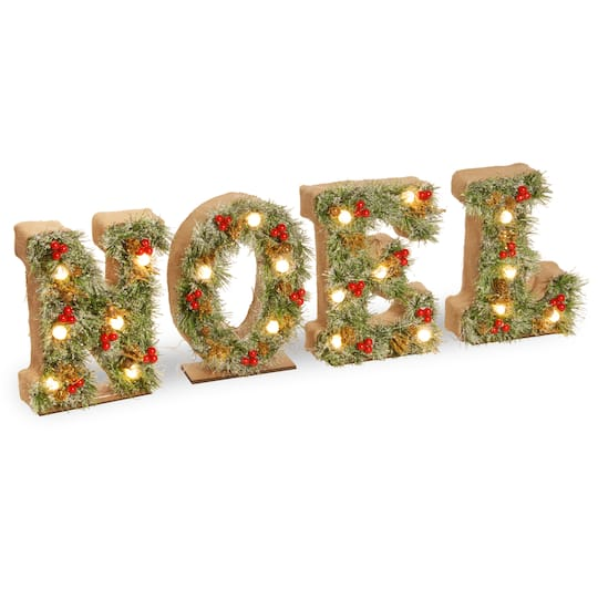 3Ft Pre-Lit Led Noel Decoration By National Tree Company in Red | Michaels�