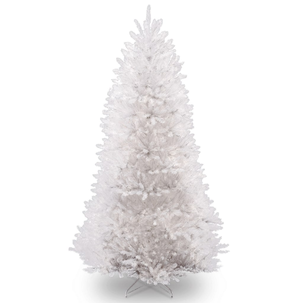 9ft unlit dunhill white fir artificial christmas tree