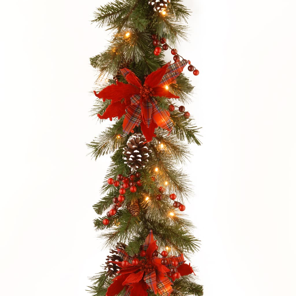 """Purchase the 9' X 12"""" Pre-lit Decorative Collection Tartan ..."""
