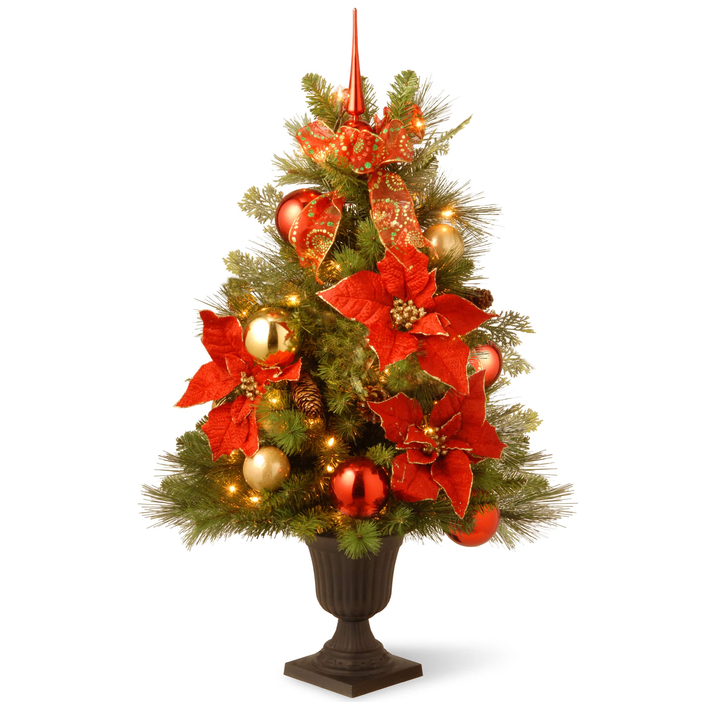 Shop The 3ft Decorative Collection Home For The Holidays Entrance Artificial Christmas Tree Clear Lights At Michaels